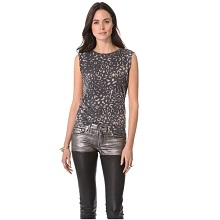 Kelly Wearstler Gray Cheetah Tee